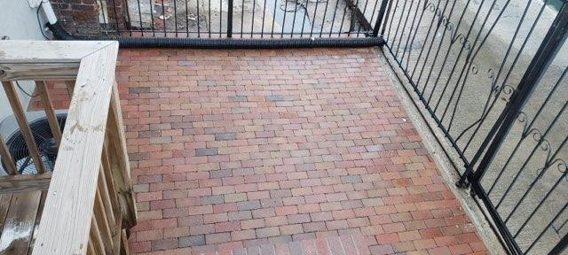 New masonry patio