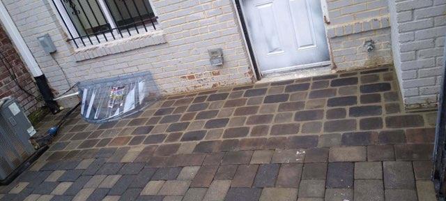 Stone patio rebuild