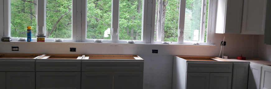Reframing to add new windows to kitchen