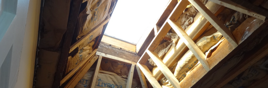 Rough framing at skylight