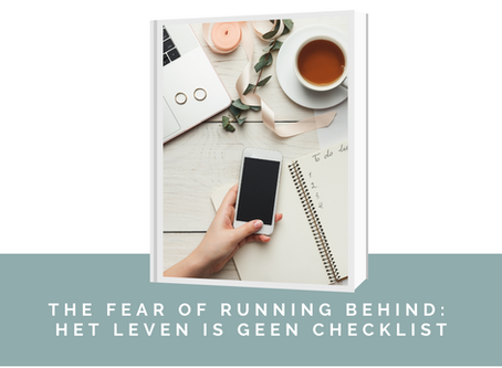 "FORB of ""the fear of running behind"""
