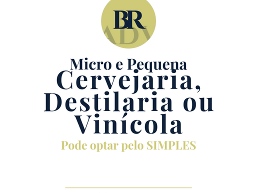SIMPLES - micro e pequenas cervejarias, destilarias e vinícolas