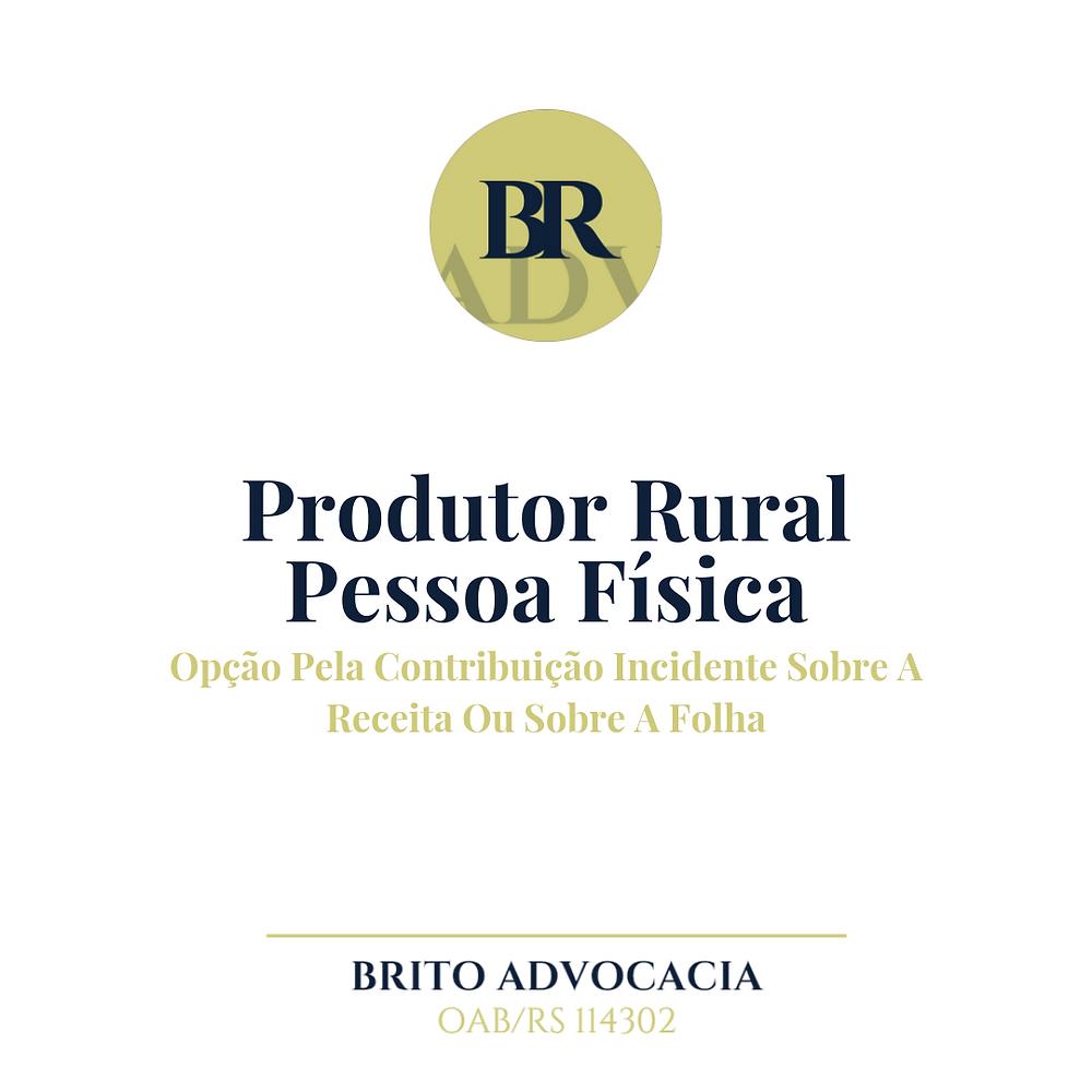 Produtor Rural INSS contribuiçao previdência pessoa física