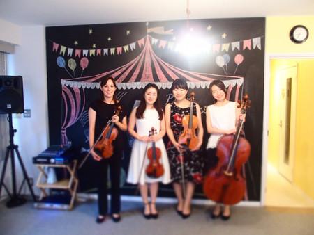 朝活ライブ第一弾「ソフィアカルテット モーニングコンサート」開催致しました。