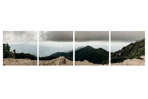 Mt Le Conte Summit Panaramic Tile Metal Print Set (20x80 total dimension)
