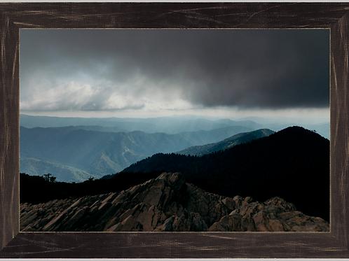 Mt. LeConte Summit 12x18 Framed Print