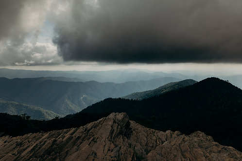 Mt. LeConte Summit 24x36 Metal Print