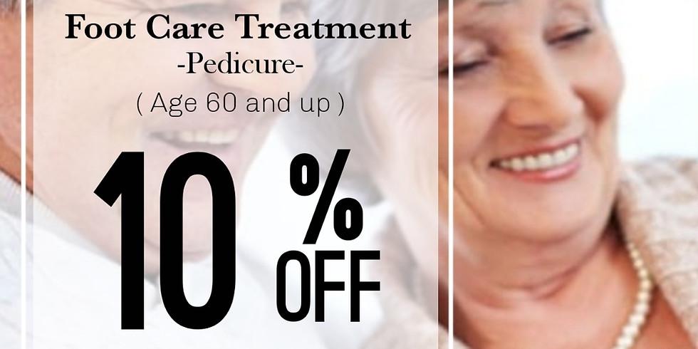 10% off Senior Discount for Pedicure