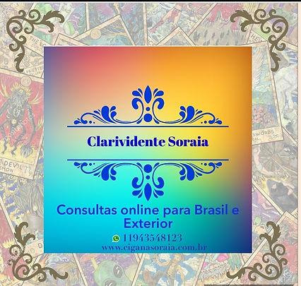 Consultas online para todo Brasil e Exterior Meu trabalho como clarividente a 44 anos ,sou