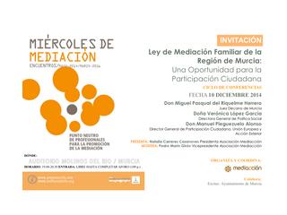 Ley de Mediación Familiar de la Región de Murcia
