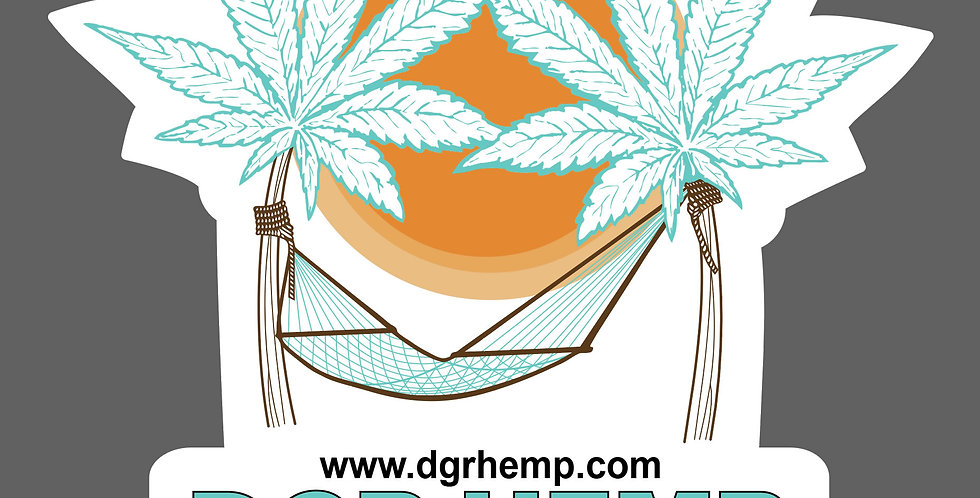 DGR HEMP STICKER