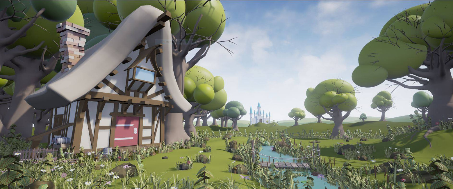 Cartoon Fantasy Landscape 1