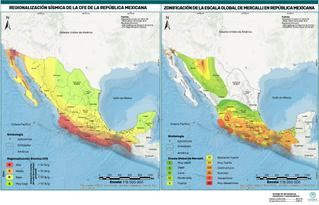 Elaboración de mapas sísmicos. Ubicación de zonas de peligro y vulnerables ante sismos