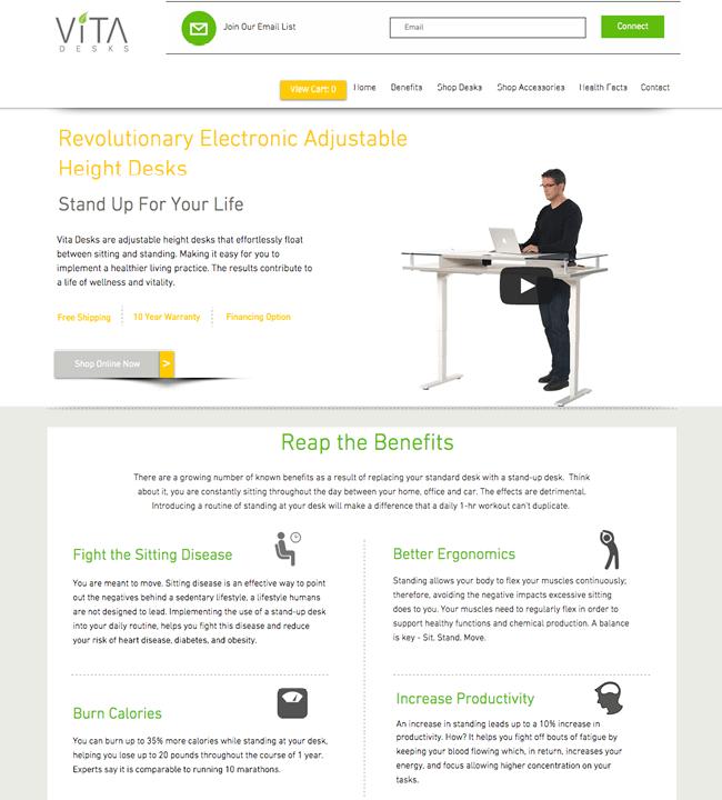 Captura de Pantalla de la Página Web Vita Desks