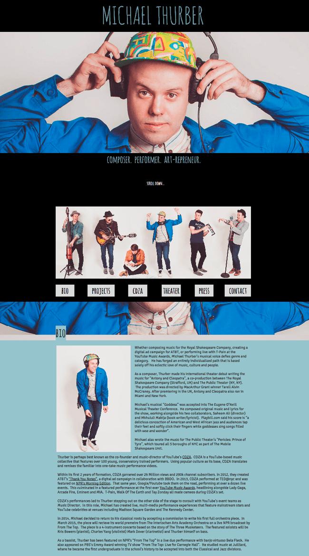 Captura de Pantalla de La Página Web Michael Thurber