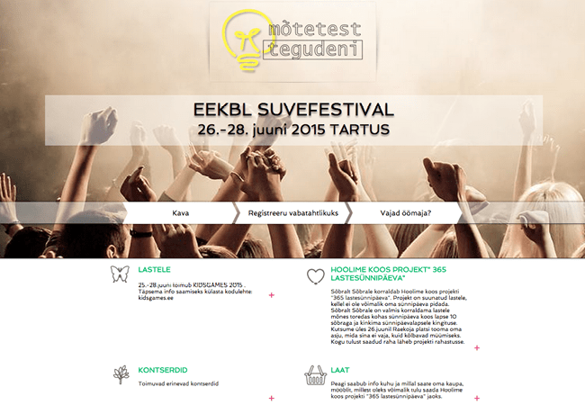 Captura de Pantalla de la Página Web Eekbl Suvefestival