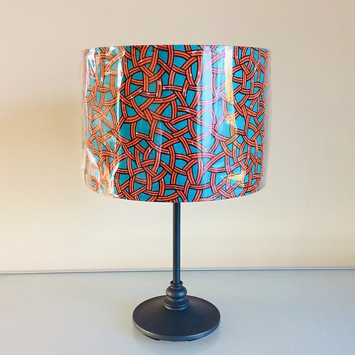 Lampshade, orange/teal (3025)
