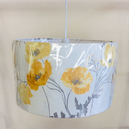 Lampshade, yellow poppies (3521)