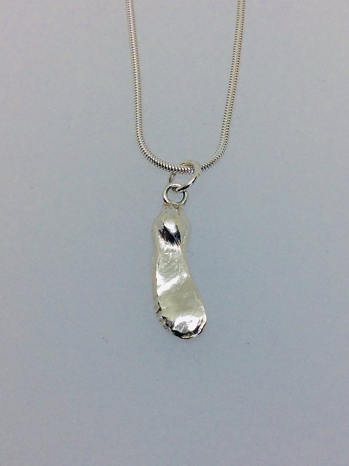 Silver Sycamore Seed Necklace