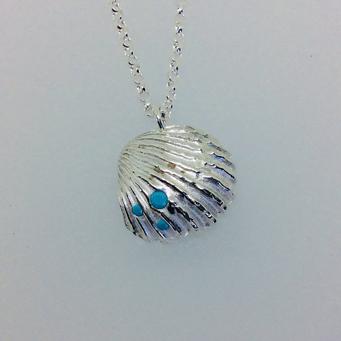 Silver Cockle Shell Necklace