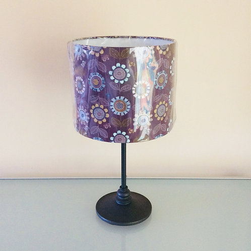 Lampshade, mauve floral (2517)