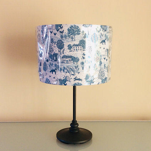 Lampshade, blue countryside (3028)