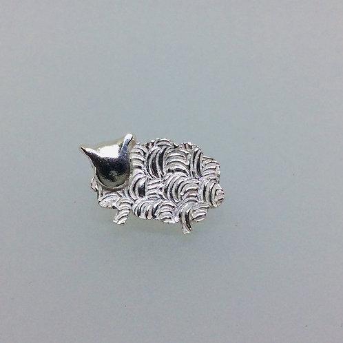 Silver Sheep Pin