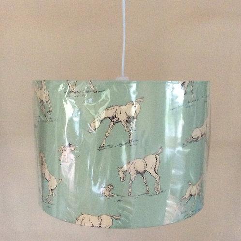Lampshade, horses (3014)