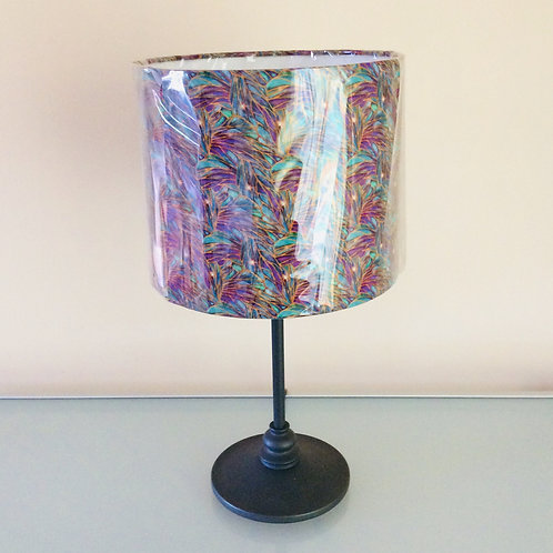 Lampshade, purple/teal patterned (2521)