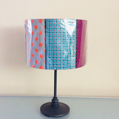 Lampshade, patterned stripe (3019)