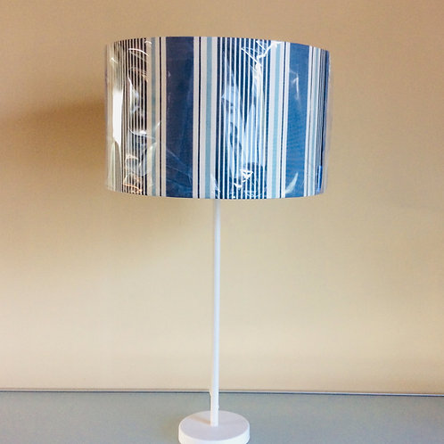 Lampshade, blue stripe (3513)