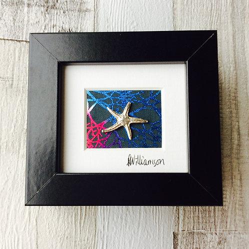Framed Silver Starfish