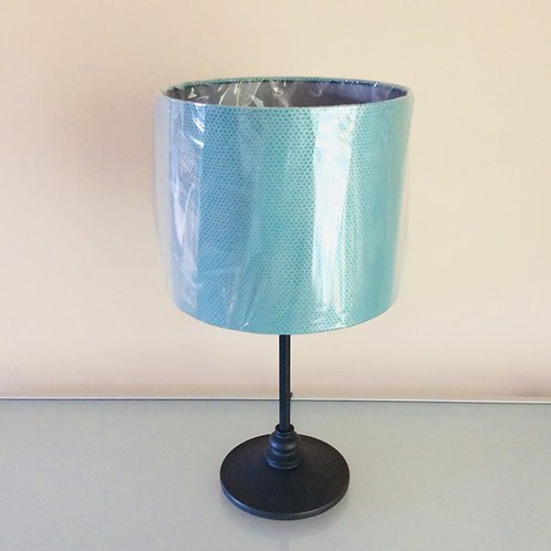 Lampshade, turquoise&silver (2522)