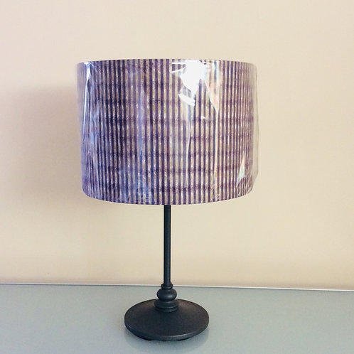 Lampshade, purple/gold stripe (3016)