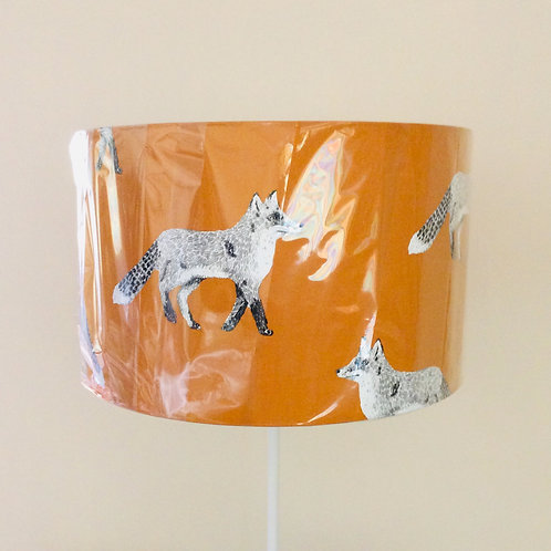 Lampshade, orange foxes (4024)