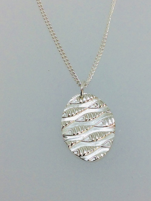 Silver Swimming Fish Necklace