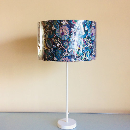 Lampshade, blue floral (3524)