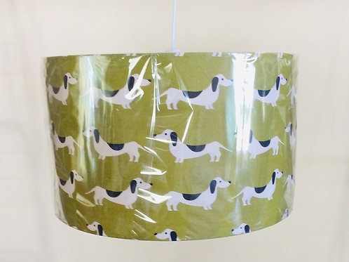 Lampshade, dachshunds (3526)