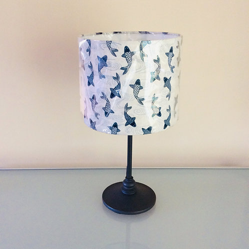 Lampshade, blue carp (2520)