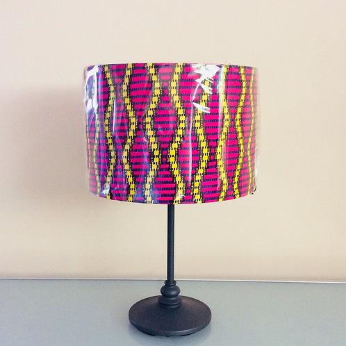 Lampshade, pink/yellow stripe (3023)
