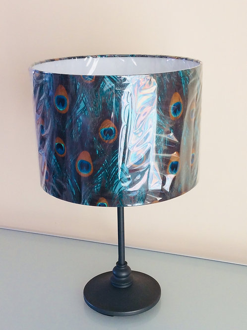 Lampshade, peacock feathers (3033)