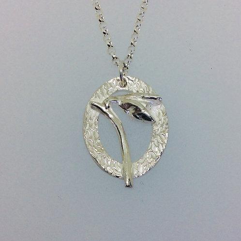 Silver Snowdrop Necklace