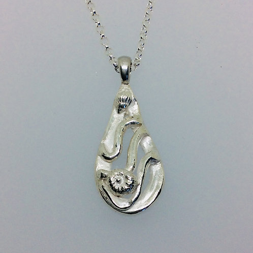 Silver Tidal Wave Necklace