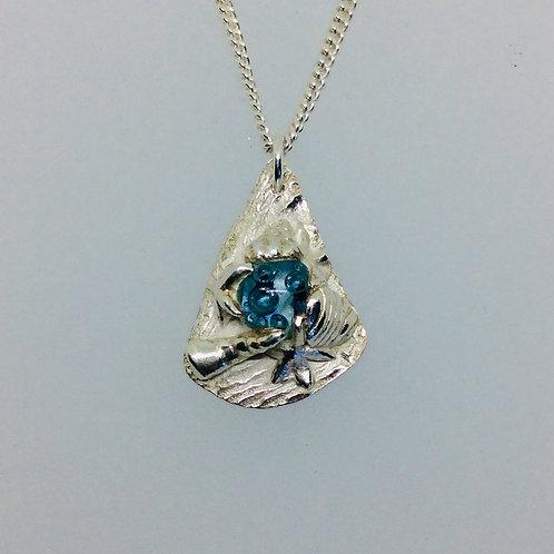 Silver Rock Pool Necklace