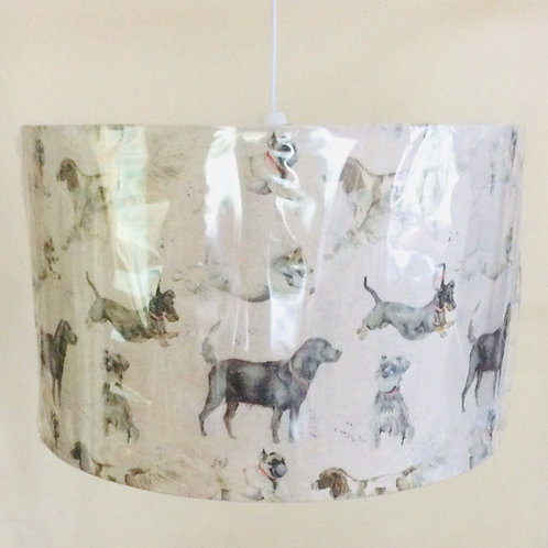 Lampshade, dogs (4017)