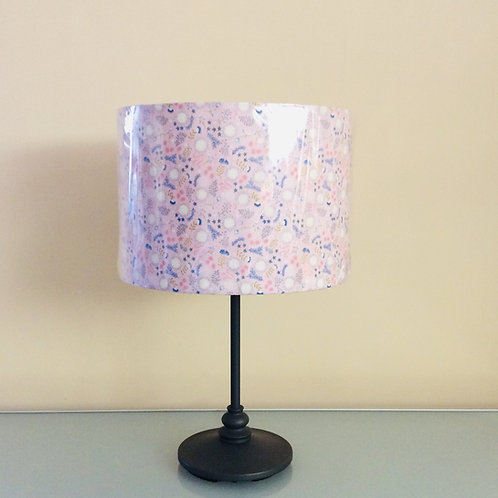 Lampshade, pink floral (3024)
