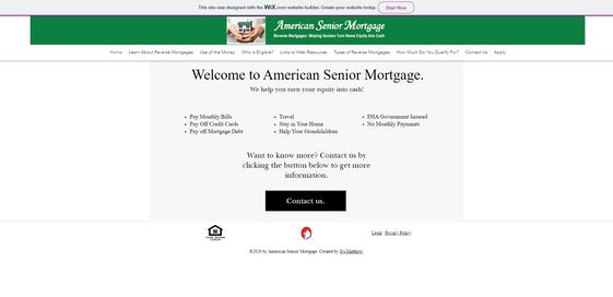 American Mortgage Website Design