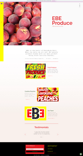 EBE Produce Website Design