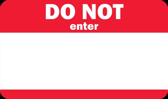Do Not Enter Nametag