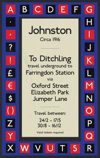 Typographic Study: Edward Johnston